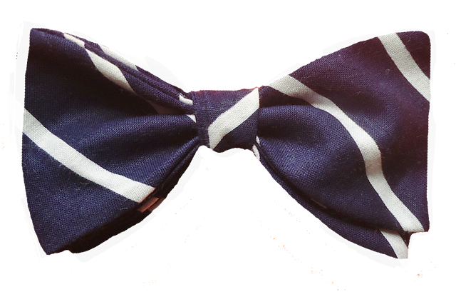 6b34c083f835 Navy White Stripe. $30.00. Navy blue bow tie ...